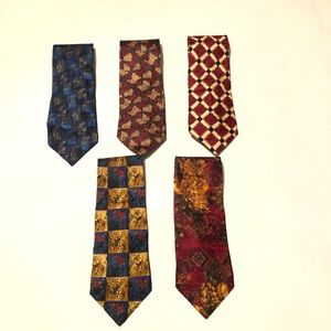 Bundle Of 5 Ermenegildo Zegna Men's Ties